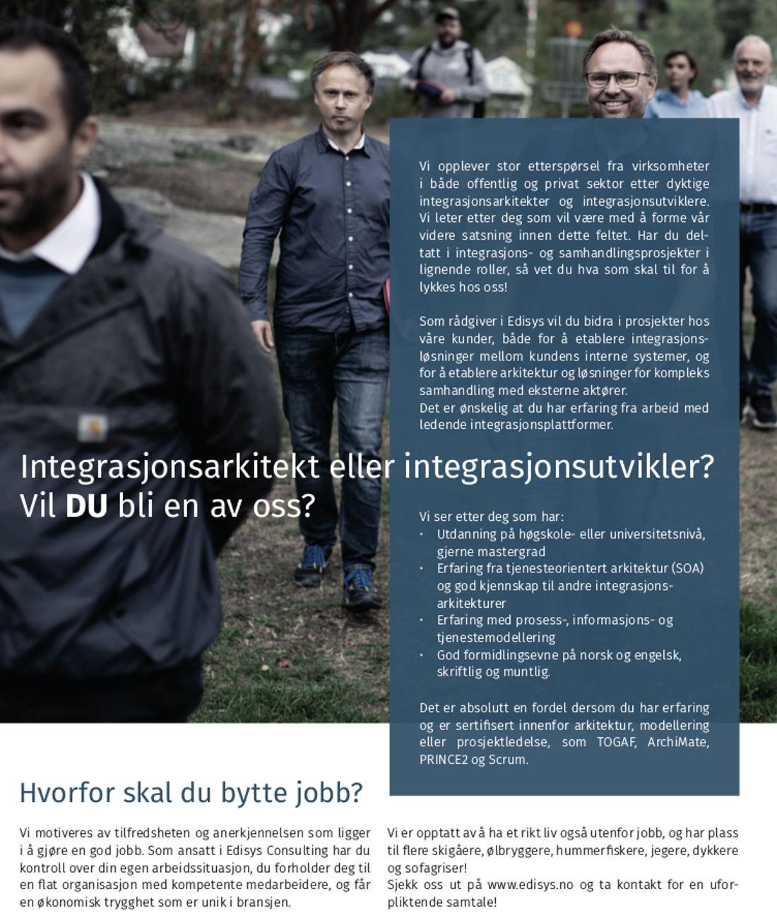 Vi trenger flere integrasjonsarkitekter og -utviklere!